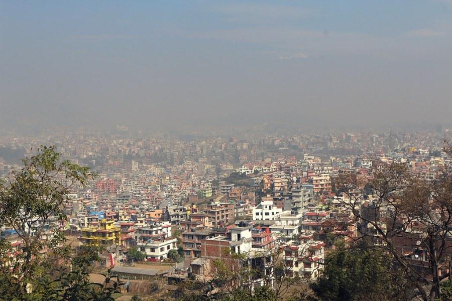 View of Kathmandu from Kirtipur, Nepal