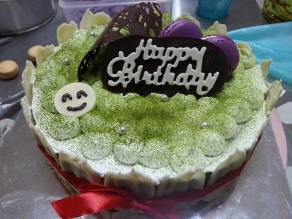 Tokyo style green tea cheesecake