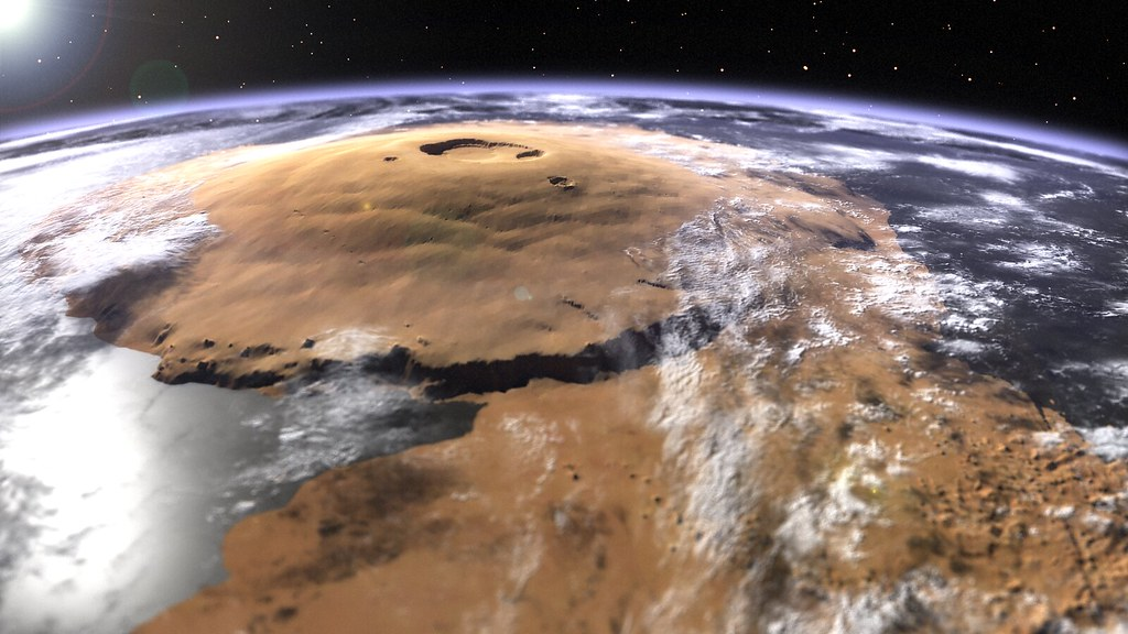 Olympus Mons A Visual Of Mars Olympus Mons Surrounded