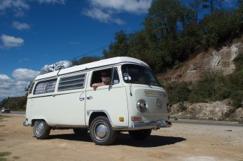 On the road in Guatemala