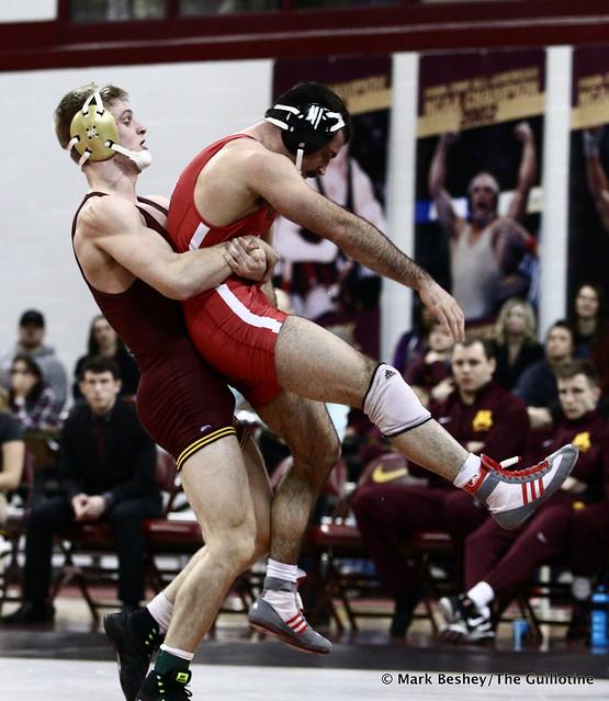 165 #13 Nick Wanzek (Minnesota) dec. Dustin Williams (Nebraska) 4-1
