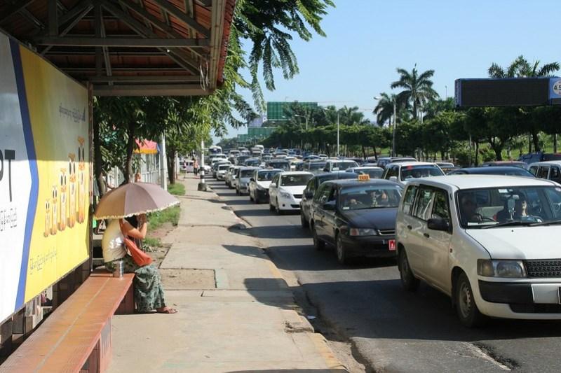 Leaving the house in Yangon