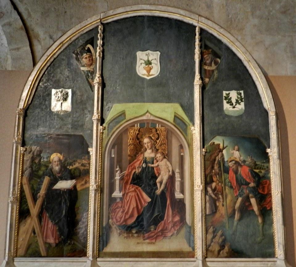 Triptico Virgen de la Rosa de Fernando Gallego Museo Catedralicio Salamanca 10