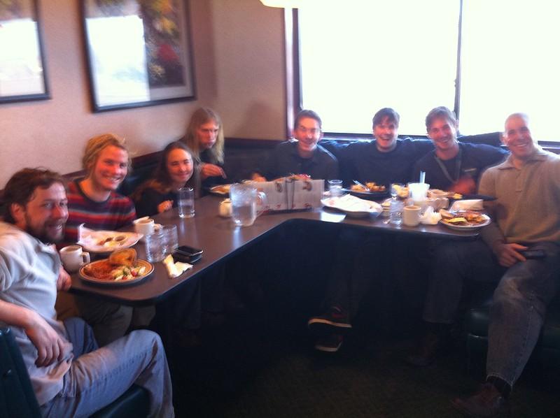 Post-backcountry breakfast w NOLS crew @pedro_bruder