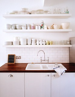 open kitchen shelves above sink www