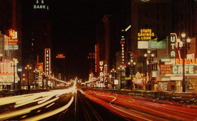 Main Street at Night - Salt Lake City, Utah