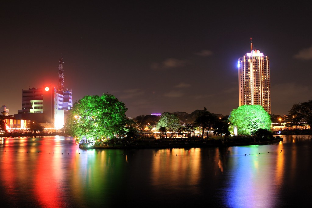 Beira Lake on Vesak Day