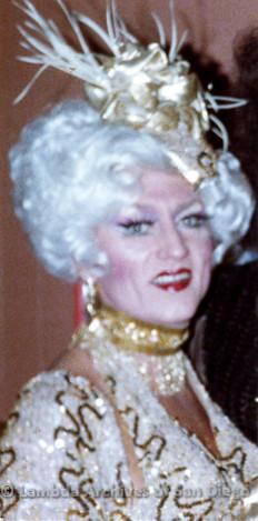 1983 - Imperial Court de San Diego Coronation Ball: Empress XIII Tiffany.