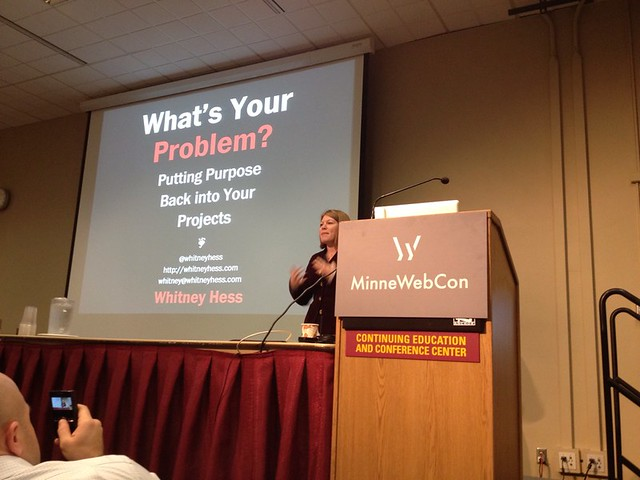 Time for @whitneyhess at #minnewebcon!