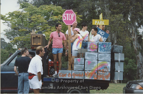 P001.040m.r Pride 1991: AIDS Foundation San Diego Parade Float