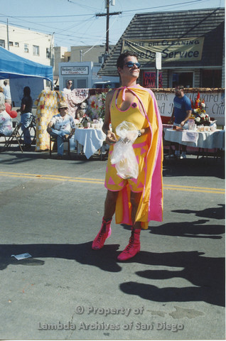 P001.099m.r City Fest 1991: man in a yellow and pink costume