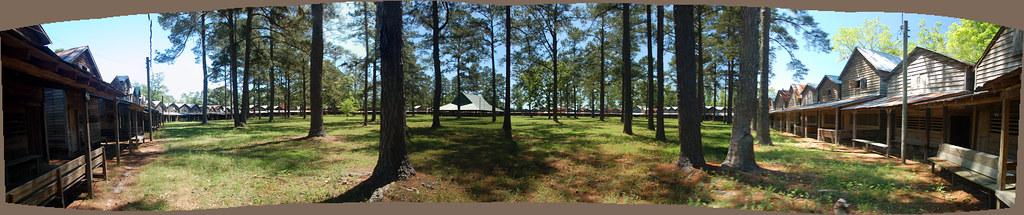 Indian Field Camp Meeting Panorama