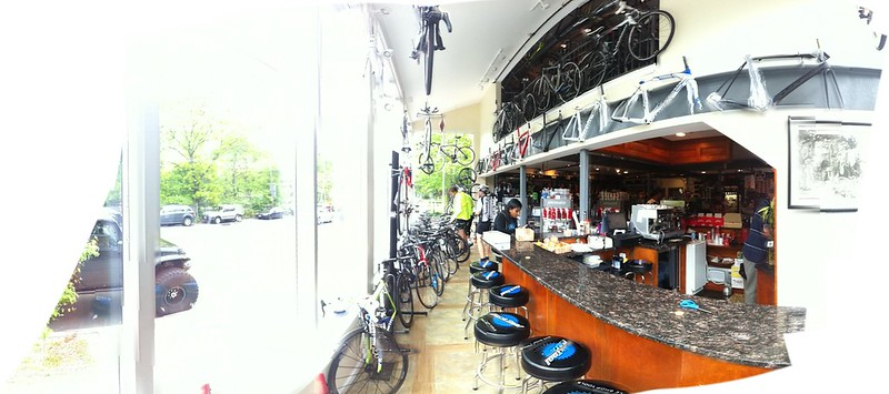 Coffee before ride to Bear Mountain....