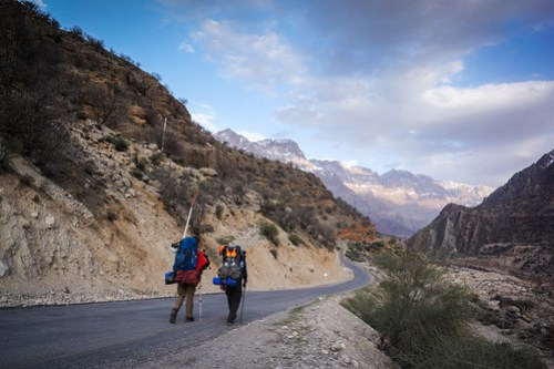 Me & Leon walking the Zagros roads