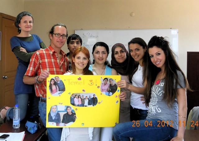 Louise, Bryan, Muhammed, Gizem, Tatia, Emira, Olga, Laura -- Migi took the photo and Atila stopped showing up by bryandkeith on flickr