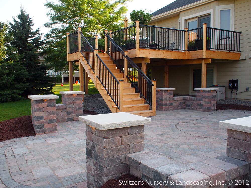 Deck & Patio ~ MN Backyard Ideas | Custom Designed ... on Outdoor Deck Patio Ideas id=34257