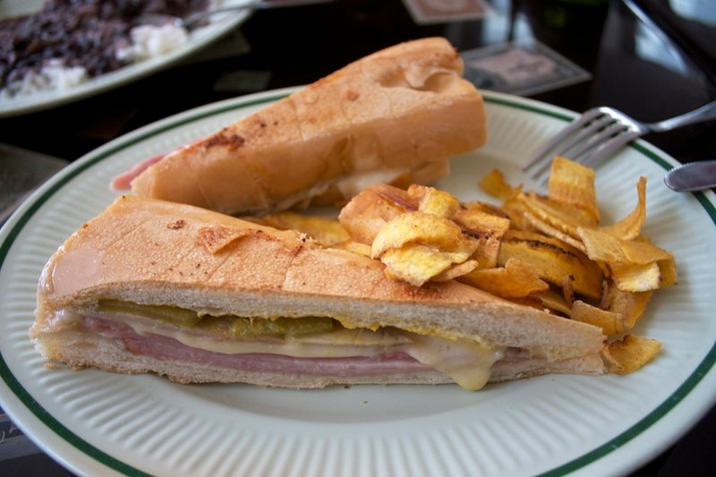 Cuban sandwich in Miami at David's Cafe