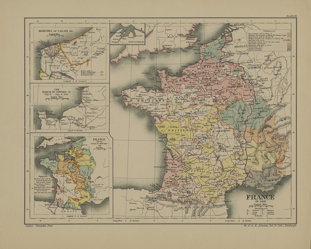 Map Page Of Section Lvi France During The Hundred Years W