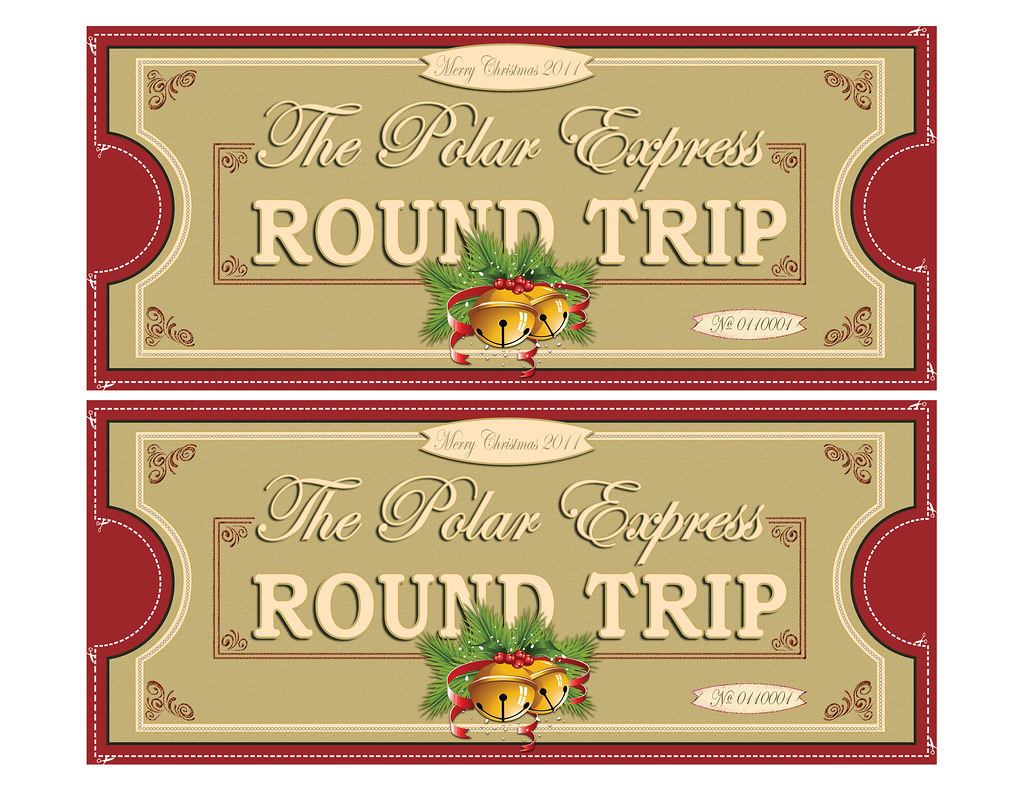 Polar Express Tickets Fronts 2up 8 5x11