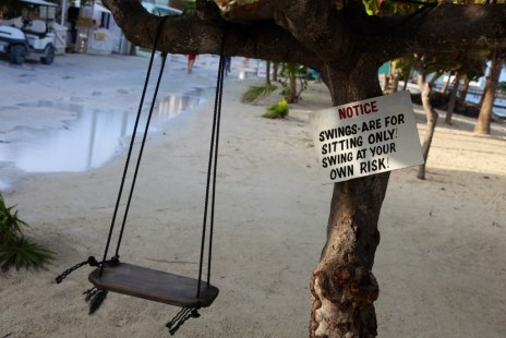 Swinging is dangerous