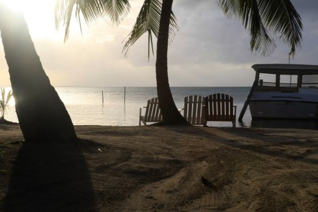 Sunset on Caye Calker