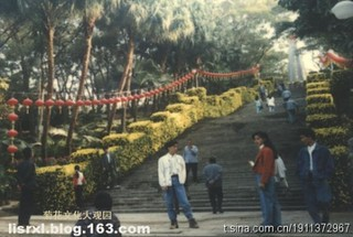 人民公园展区菊砌长城