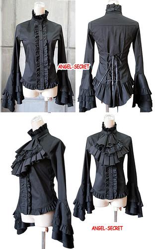 2011新款 春秋 GOTHIC LOLITA 哥特華麗喇叭袖長袖襯衫副本 | mrsclay | Flickr