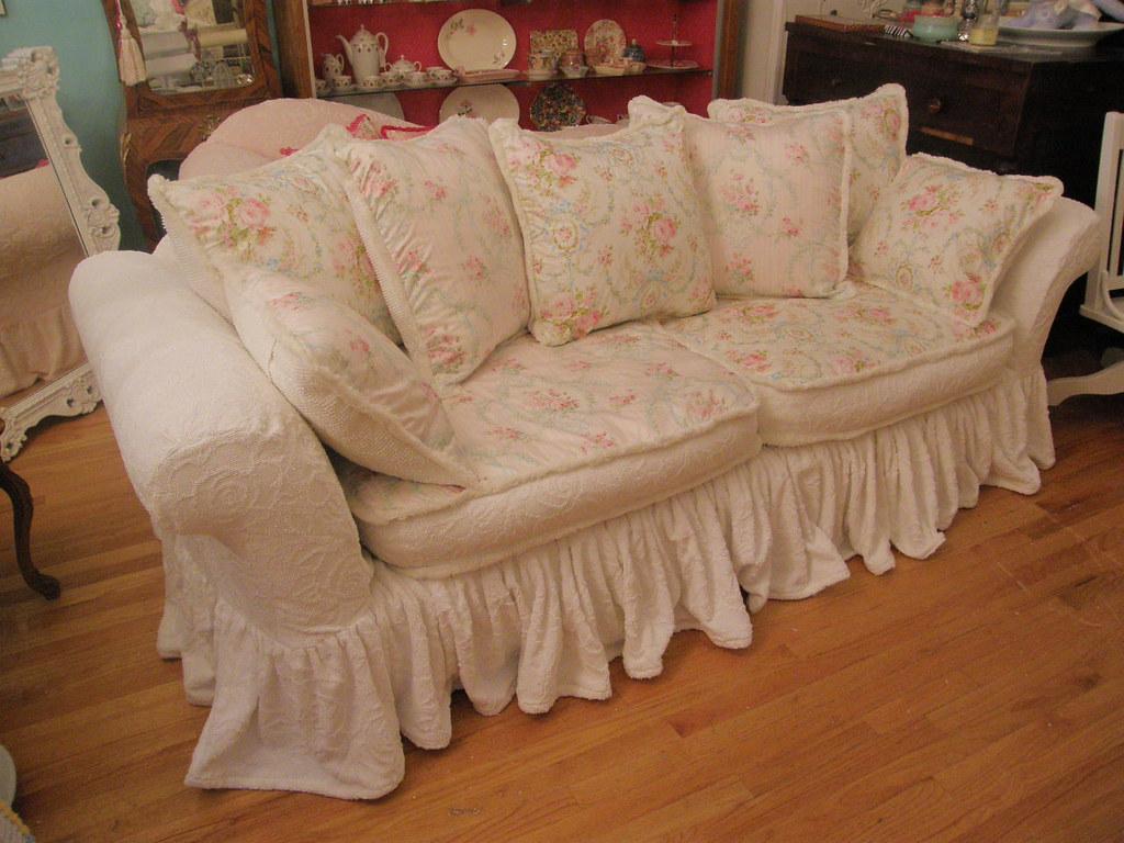 Custom Shabby Chic Sofa By Vintage Chic Furniture Schenect
