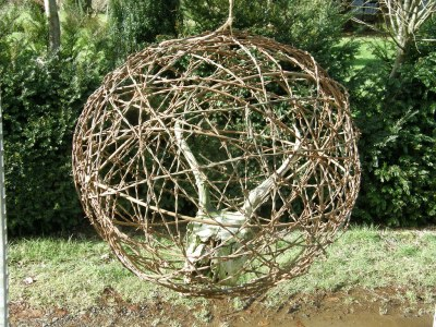 Forest Ball with Barb Wire
