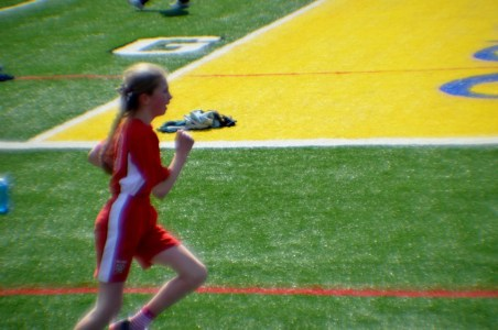 Nina running the mile