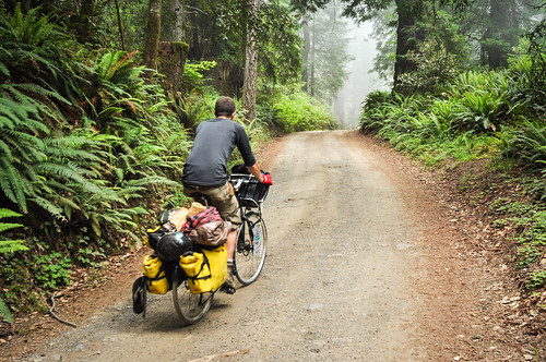 Riding dirt on Usal Road