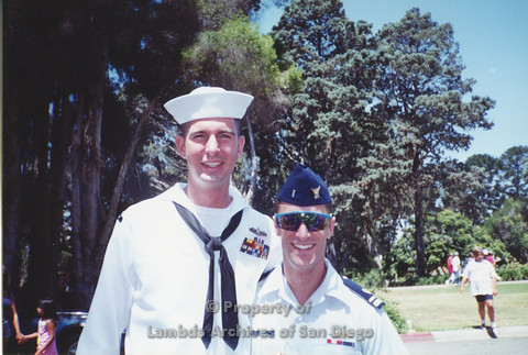 P001.330m.r.t San Diego Pride 1992: Member of Coast Guard and Naval Man