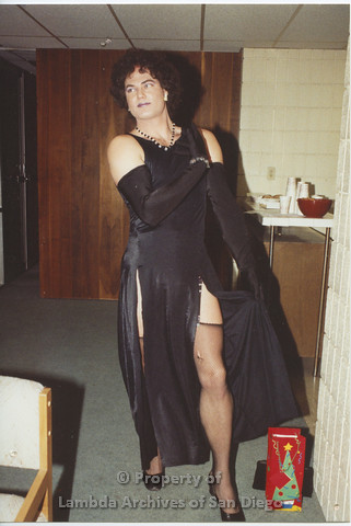 AIDS Foundation of San Diego: 1989 - Halloween Party, Gay Man in Drag.