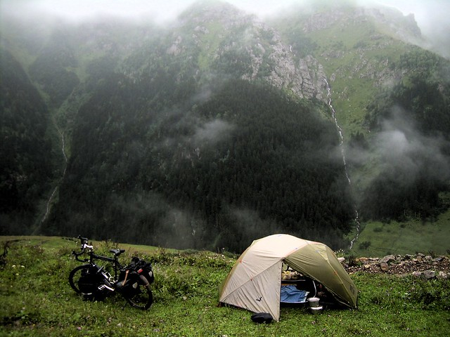 Another phenomenal campsite in the Eastern Black Sea Mountains; of course I couldn't see a thing when I put my tent here by bryandkeith on flickr