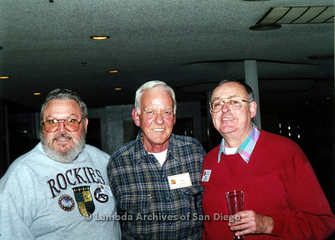 P040.090m.r.t SAGE General Meeting; from left to right: Dean Smith, Gene Barton, and Ray Tibbs
