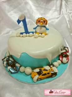 Pororo Birthday Cake