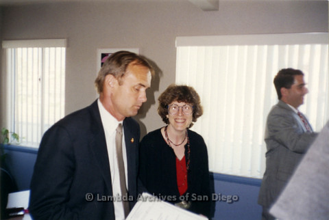P237.002m.r.t Center Events:Karen Marshall and officials at The Center
