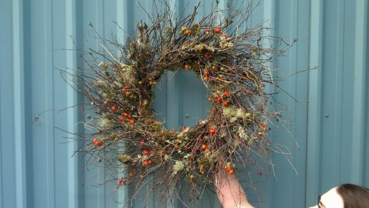 Rose Hip Mossy Fall Wreaths