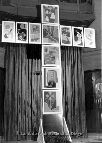 "P126.048m.r.t Tim Grummon's artwork ""Panels Of Love"" on exhibit"
