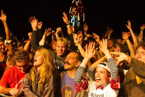 Crowd at Matt & Kim Performing at Riot Fest 2013: Denver Day 2