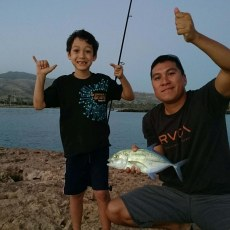My son and grandson we got dinner!