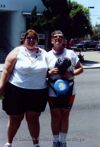 San Diego Pride Parade, July 1992: Patty Zowolinski (left)