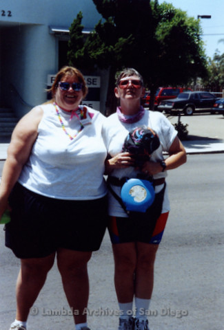 San Diego Pride Parade, July 1992: Patty Zowolinski (left)