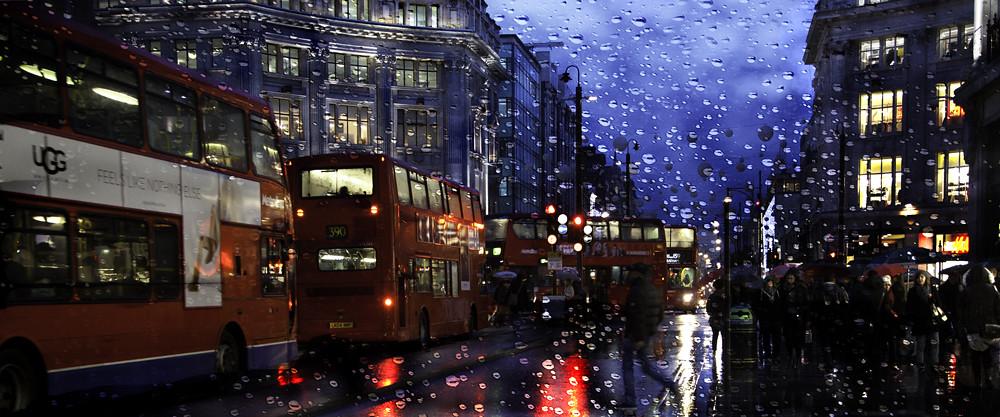 A Rainy Night In London Oxford Street London England