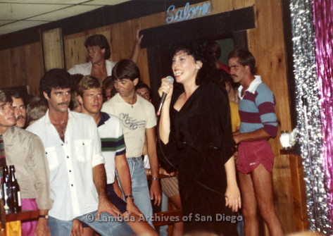 1982 - West Coast Production Company (WCPC): Performer entertaining the Crowd at the Gay Dance Club.