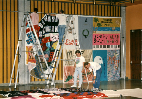 AIDS Quilt at San Diego Golden Hall, 1988