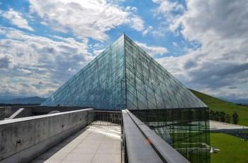 Hidamari Glass Pyramid at Moerenuma Park - Sapporo, Japan