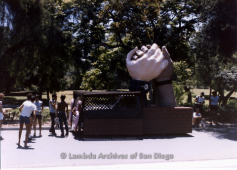 San Diego Lambda Pride Parade: Set Up Area, Contingent - Leather Unity Float.