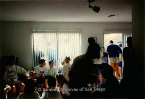 P263.026m.r.t Front Runners and Walkers of San Diego: Group photo of people in a living room