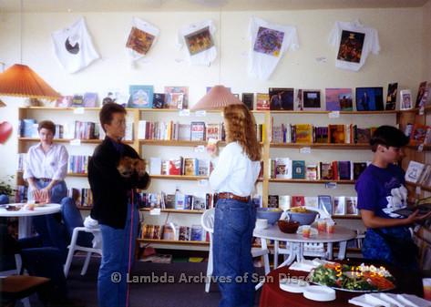 P167.017m.r.t Paradigm Women's Bookstore: Party or reception inside bookstore